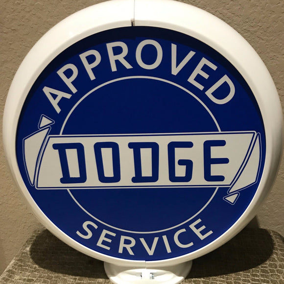 Dodge Reproduction Gas Pump Globe Sign
