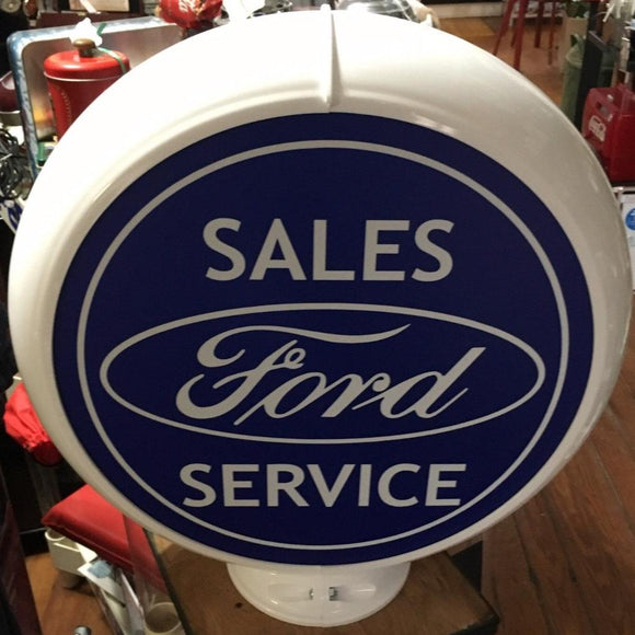 Ford Sales Service Reproduction Poly Plastic Gas Pump Globe