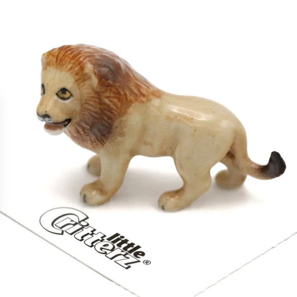 Little Critterz Lion Miniature Porcelain Figure