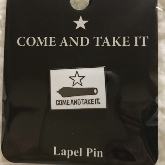 """Come and Take It"" Texas Battle Of Gonzales Lapel Pin"