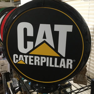 Caterpillar Reproduction Gas Pump Globe Sign