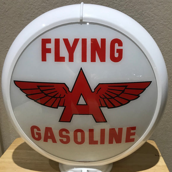 Flying A Reproduction Gas Pump Globe, Glass Lenses