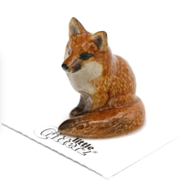 Little Critterz Red Fox Miniature Porcelain Figure