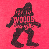 """Into the Woods"" Bigfoot Sasquatch Unisex Kid's T-shirt"