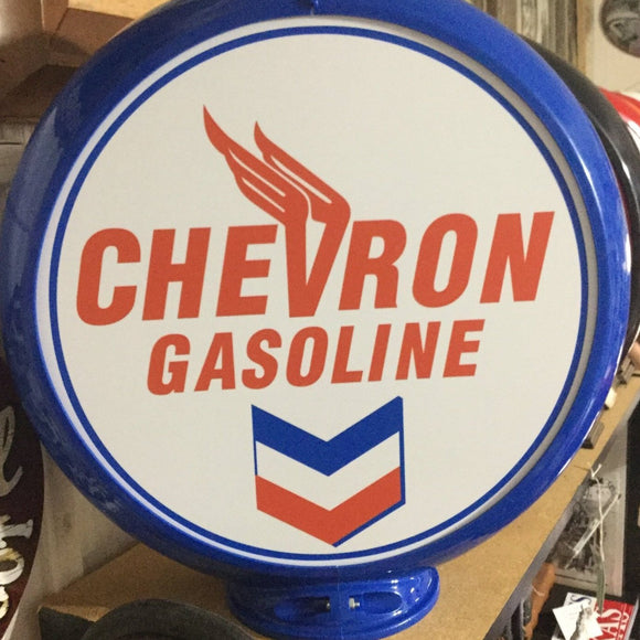 Chevron Reproduction Gas Pump Globe Sign