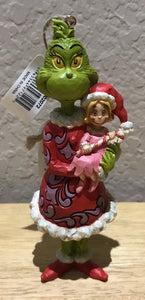 Jim Shore Grinch with Cindy Lou Who and Candy Cane Ornament