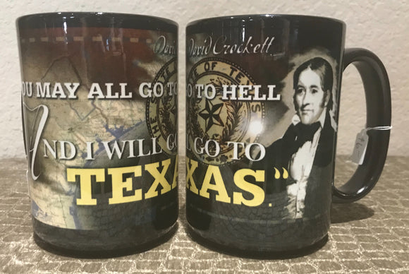 Davy Crockett Texas Coffee Mug