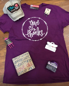 """Give Thanks"" T-Shirt"