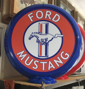 Ford Mustang Reproduction Gas Pump Globe Sign