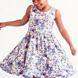 Bunches of Kittens Girls Twirly Dress