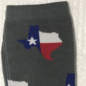 Unisex Crew Texas Flag Socks