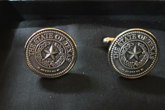 State Seal of Texas Cufflinks
