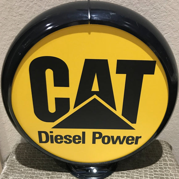 Caterpillar Diesel Power Reproduction Gas Pump Globe Sign