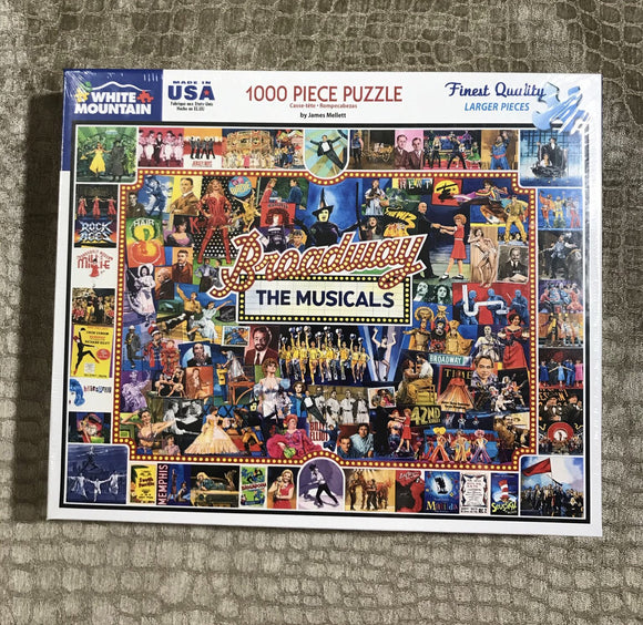 "White Mountain ""The Broadway Musicals"" 1000 Piece Puzzle"