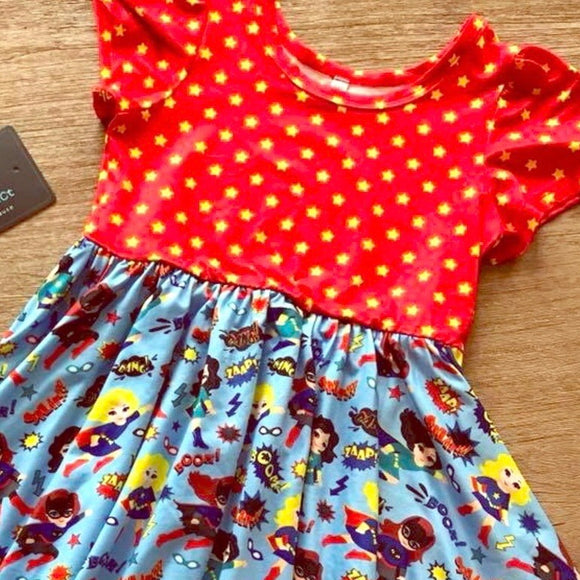 Twirly Dress Super Girl