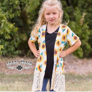 Crazy Train Kid's Sunflower Duster
