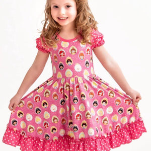 Pink Princess Girls Twirly Dress