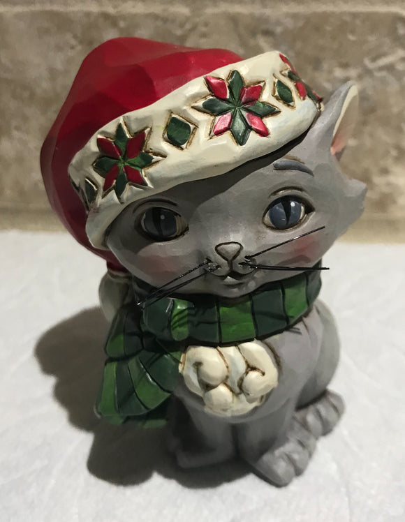 Jim Shore Mini Christmas Kitten