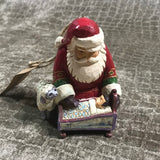 Jim Shore Santa with Baby Jesus Ornament