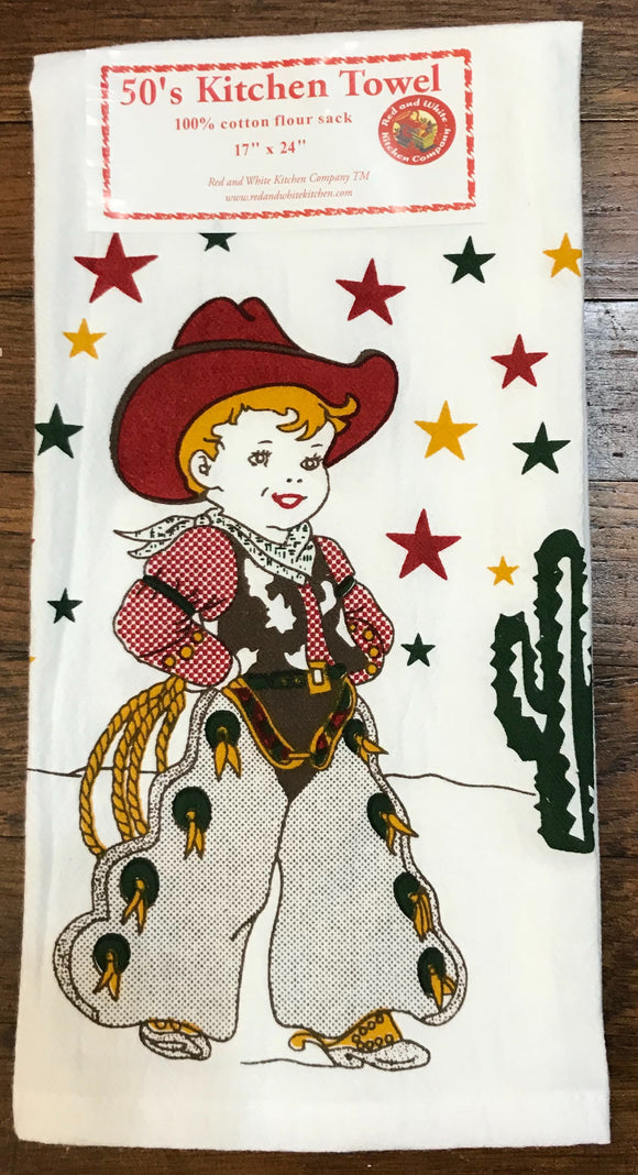 cowboy kitchen towel