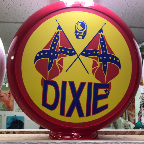 Dixie Reproduction Gas Pump Globe Sign