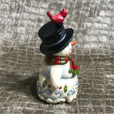 Jim Shore Snowman Mini with Broom and Cardinal