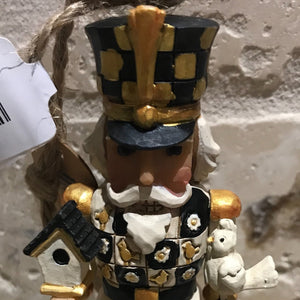 Jim Shore Black and Gold Nutcracker Ornament