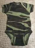 Green Camouflage Infant Playsuit