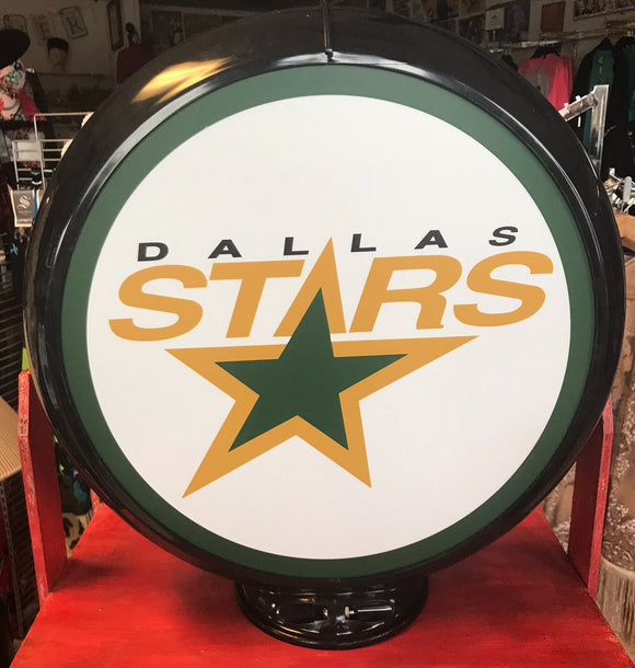 Dallas Stars Reproduction Gas Pump Globe Sign