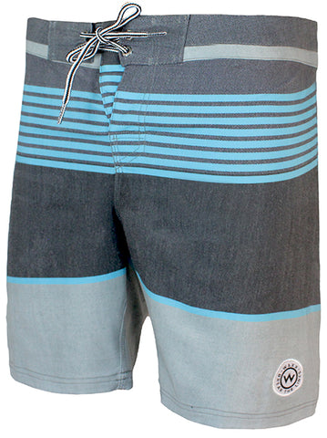 WAXX Stripes Fluo Blue Men's Beach Short