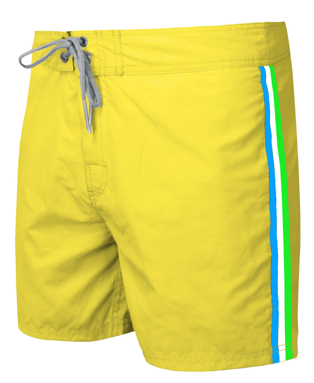 WAXX Stripes Fluo Yellow Men's Beach Short