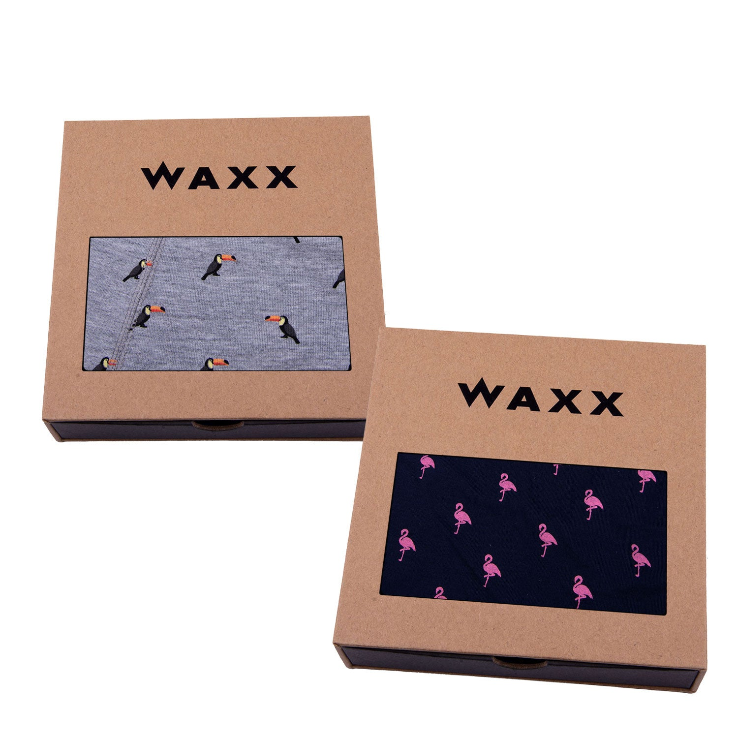 Waxx Men's Trunk Boxer Short Bundle 'Big Beaked Birds'