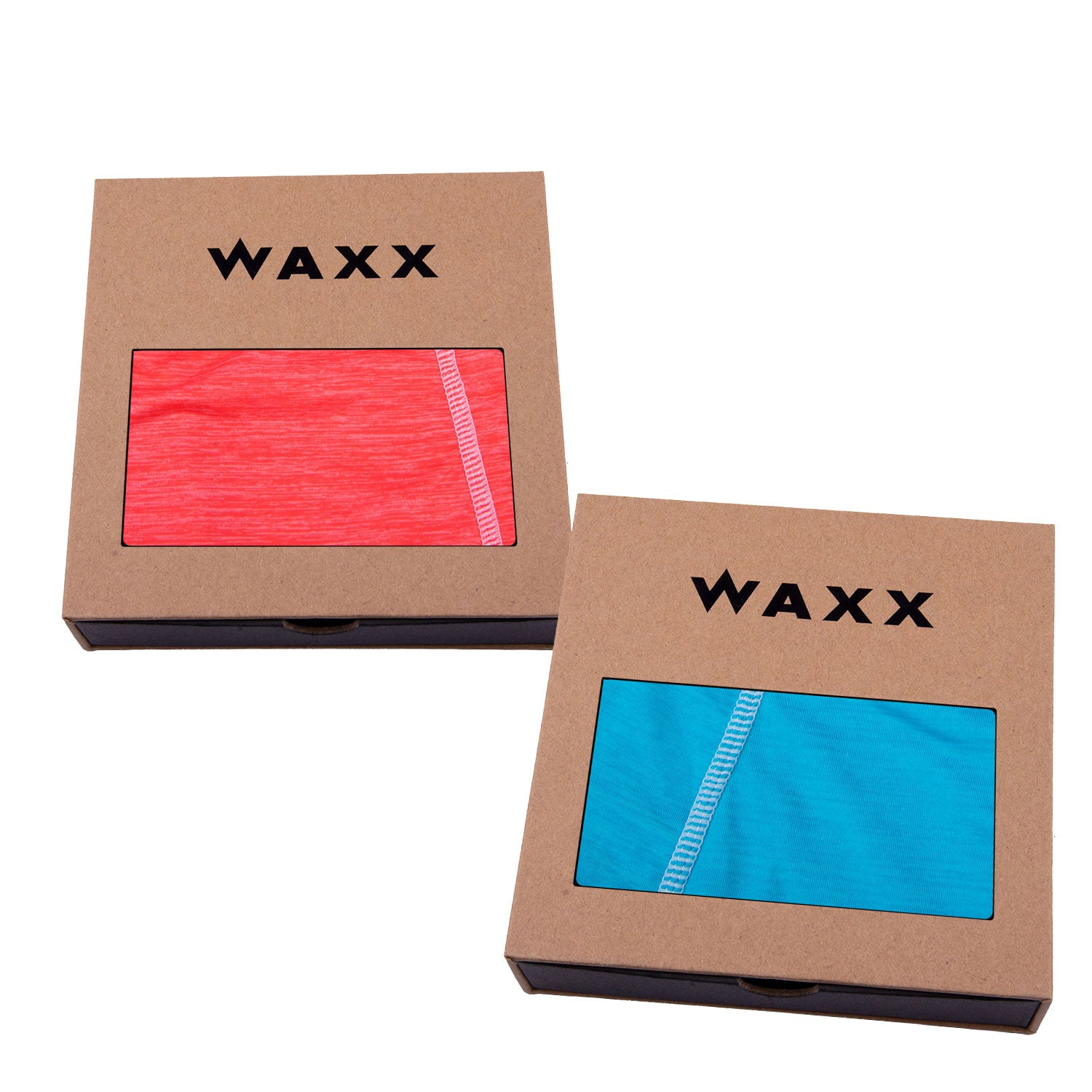 2 Pairs of Waxx Women's Boy Shorts 'The Solids'