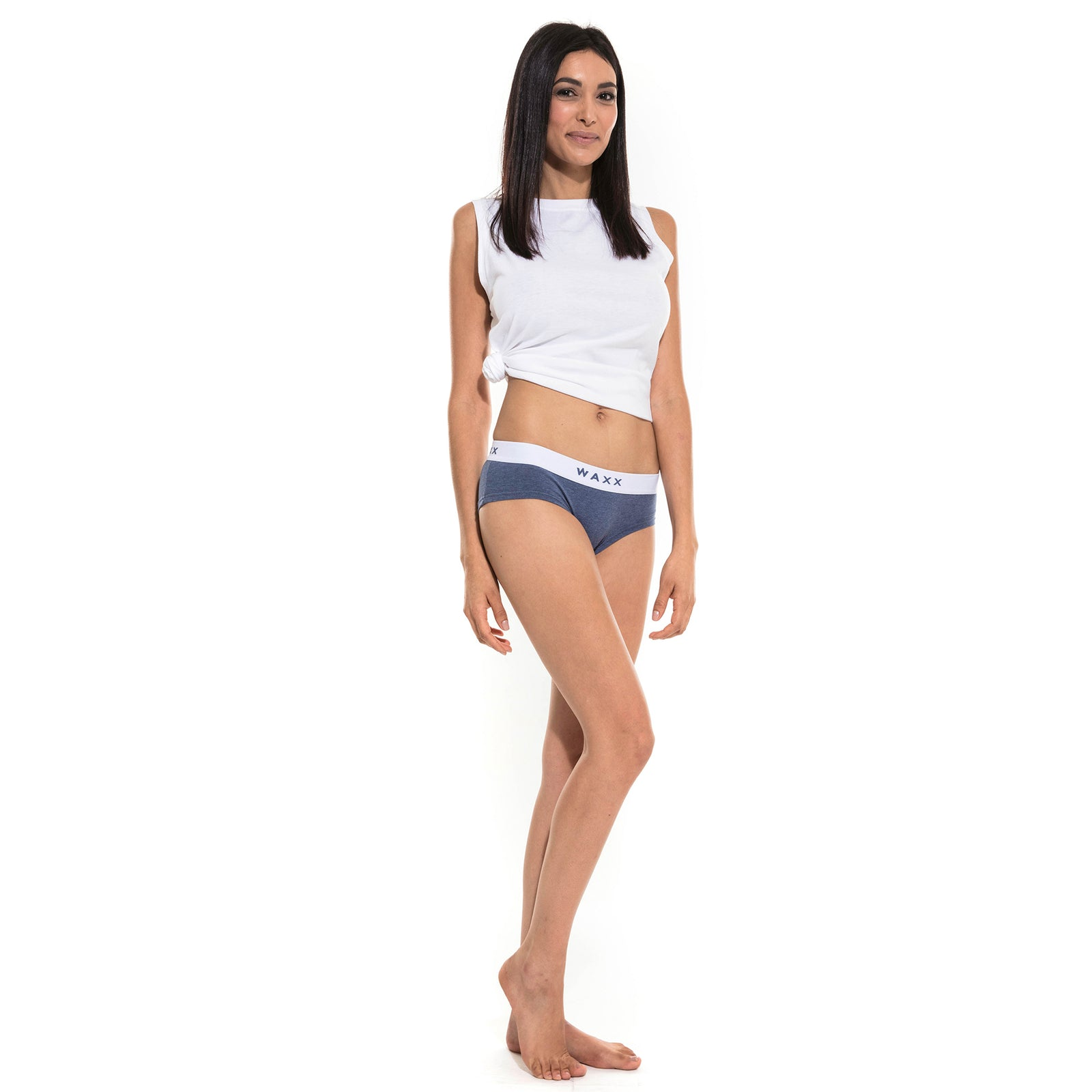 Waxx Ladies Cotton Boy Short Blue Marine