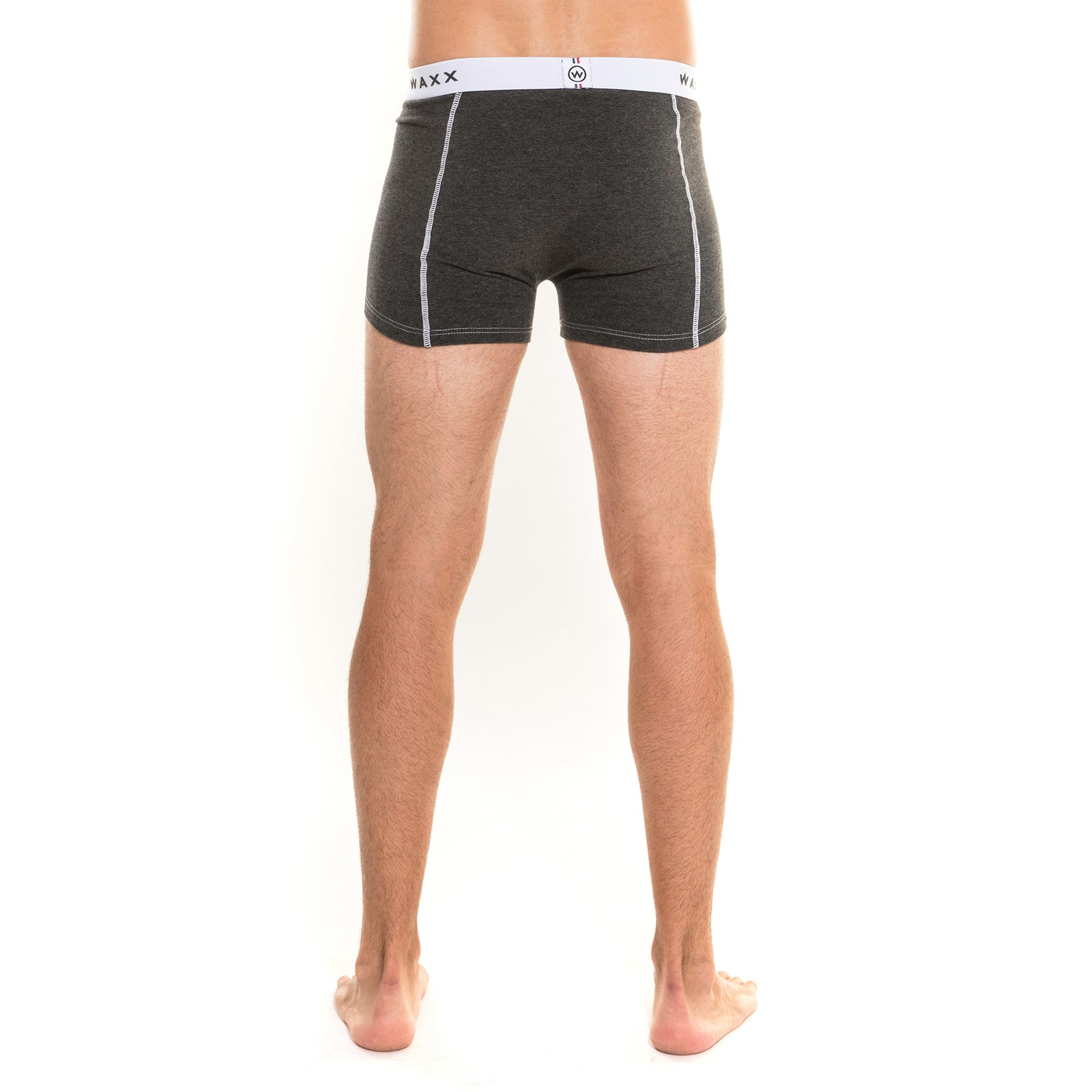 Waxx Men's Cotton Trunk Boxer Anthracite Chine