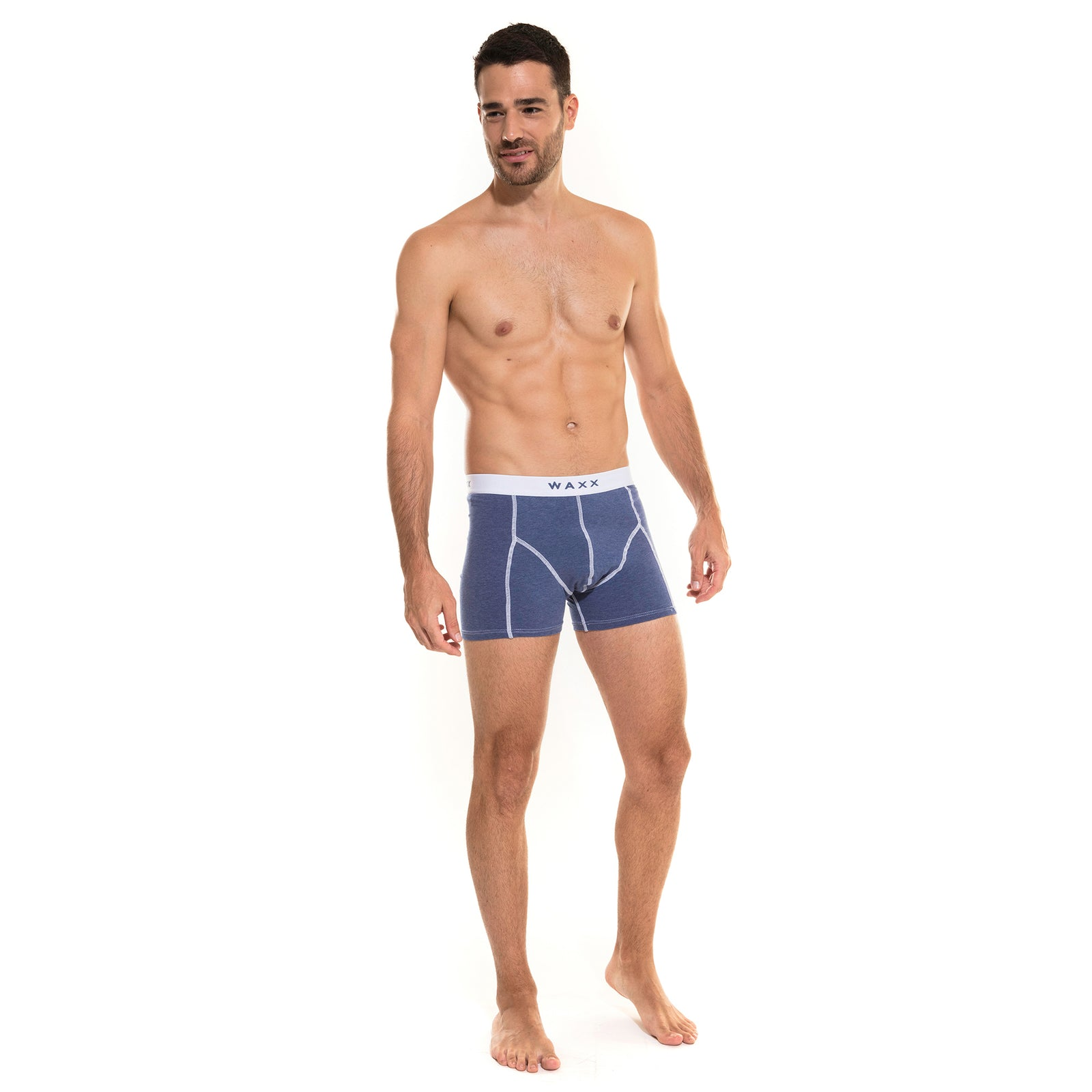 Waxx Men's Cotton Trunk Boxer Blue Marine