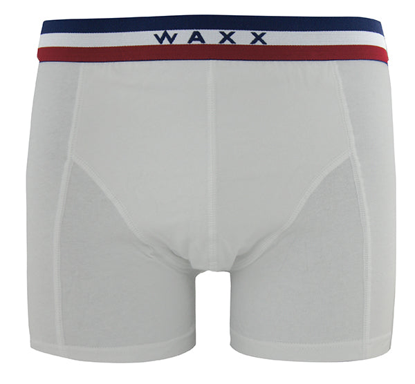 Waxx Men's Cotton Trunk Boxer Frenchy White