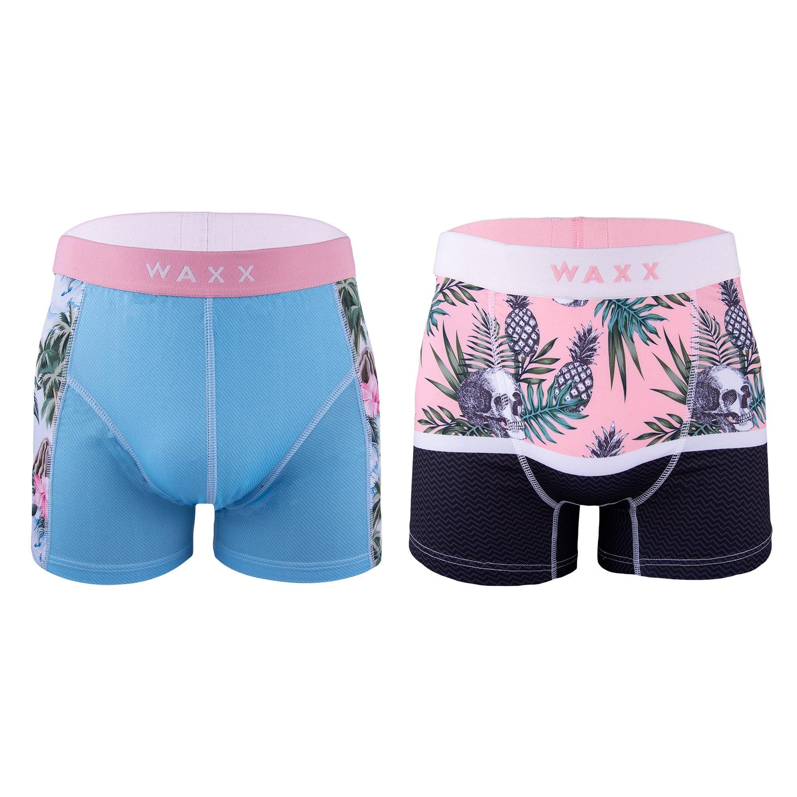 2 Pack Waxx Boxer Short Trunks - Hawaiian