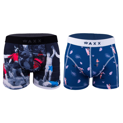 Waxx Men's Trunk Boxer Bundle 'Get Ya Sport On'