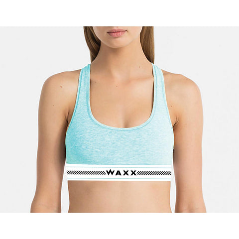 Waxx Ladies Brushed Cotton Bralett Frenchy Grey
