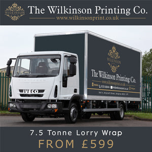 photograph relating to Printable Vinyl Wrap identify 7.5 Tonne Lorry Wagon Digitally Released Vinyl Wrap Livery
