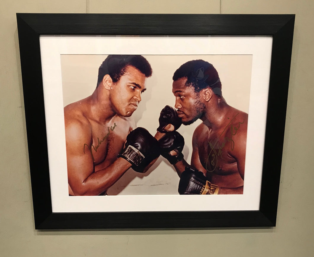 ALI VS FRAZIER - FACE OFF - SIGNED BY MUHAMMAD ALI AND JOE FRAZIER