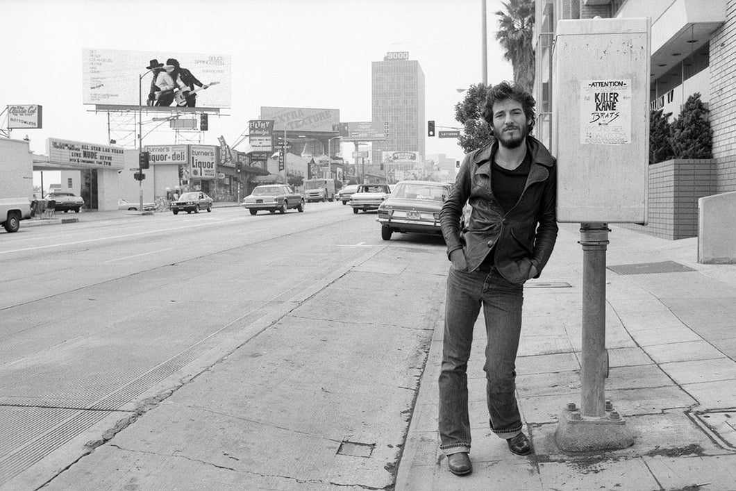 BRUCE SPRINGSTEEN - SUNSET STRIP - LARGE - SIGNED TERRY O'NEILL - LAST ONE AVAILABLE
