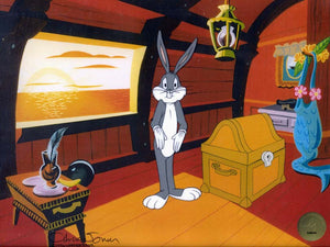 BUGS BUNNY SHRUGGIING - ORIGINAL PRODUCTION CEL