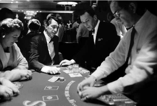 DEAN MARTIN AND FRANK SINATRA PLAYING BLACKJACK