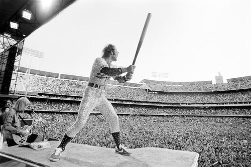 ELTON JOHN - DODGER STADIUM - HAND-SIGNED BY TERRY O'NEILL