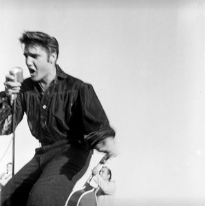 ELVIS PRESLEY PERFORMING IN TUPELO, MISSISSIPPI