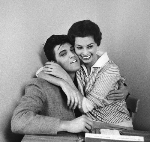 SOPHIA LOREN AND ELVIS PRESLEY