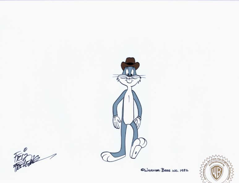 BUGS BUNNY WEARING HAT - ORIGINAL PRODUCTION CEL