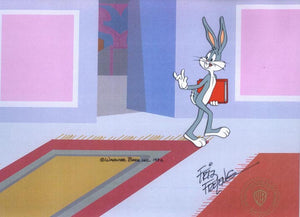BUGS BUNNY WITH BOOK - ORIGINAL PRODUCTION CEL